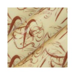 10 feuilles de transfert chocolat motif Artifices marron