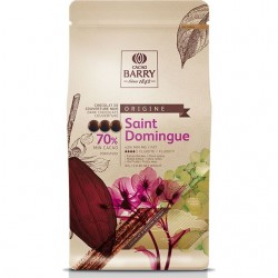 Chocolat couverture noir saint domingue barry 70% cacao pistoles 1kg