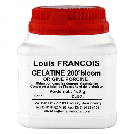 Gélatine porcine 200 Bloom Louis François pot 150 gr