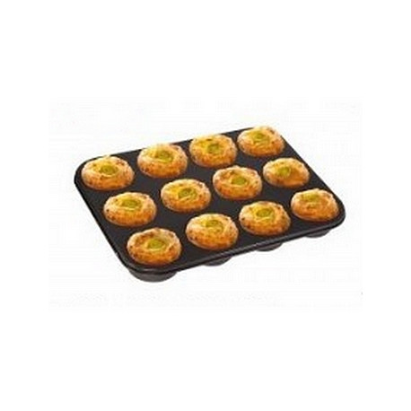Plaque 12 mini muffins en papier Nordia (Lot de 3)