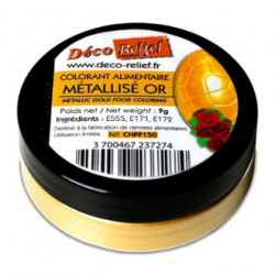 Colorant métallisé or (9gr) Déco Relief