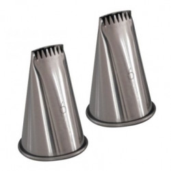 Lot 2 douilles bûche 6 dents inox