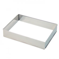 Rectangle extensible inox (hauteur 4,5 cm)