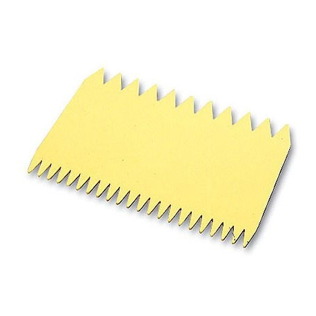 Peigne décor plastique rectangle (11 x 7,5 cm)