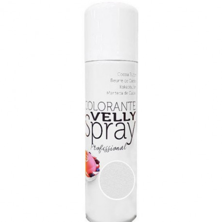 Colorant Alimentaire en Spray Effet Velours Blanc 250ml