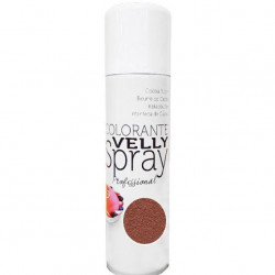"Spray colorant alimentaire ""Effet Velours"" brun"