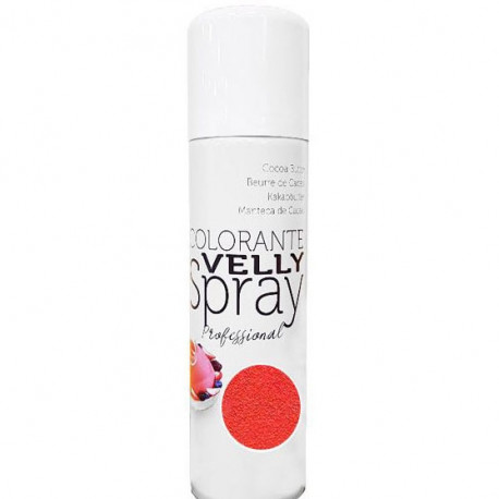 """Spray colorant alimentaire """"Effet Velours"""" rouge"""