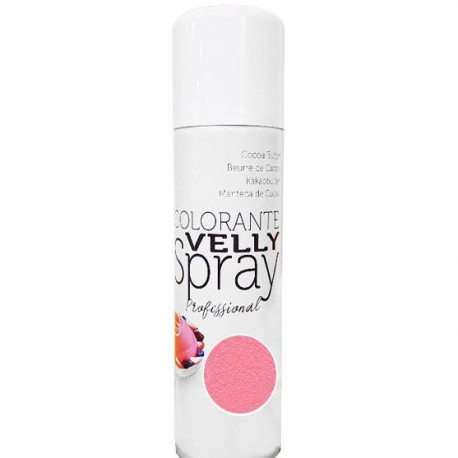 "Spray colorant alimentaire ""Effet Velours"" rose"
