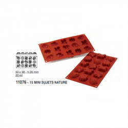 Moule silicone sujets nature