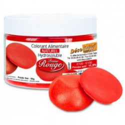 Colorant naturel rouge fraise Déco Relief en pot de 50 gr