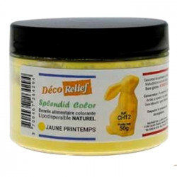 Colorant naturel liposoluble jaune printemps Déco Relief en pot de 50gr