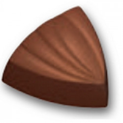Moule chocolat bonbons triangles rayures