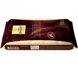 Chocolat Blanc satin 29% Barry couverture cacao plaque 2.5Kg