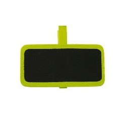 6 Ardoises sur pince rectangle vert 2x4 cm